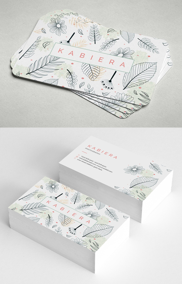 Leaf Effect Business Card
