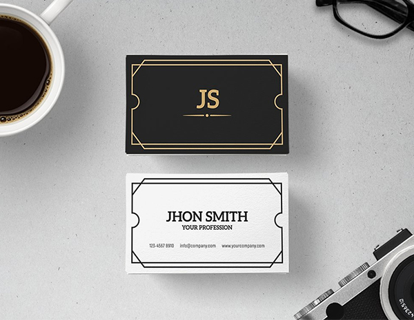 Art Deco Business Card