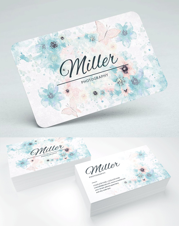 Artistic Watercolour Business Card