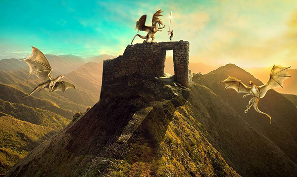 How to Create a Fantasy Dragon Scene With Adobe Photoshop