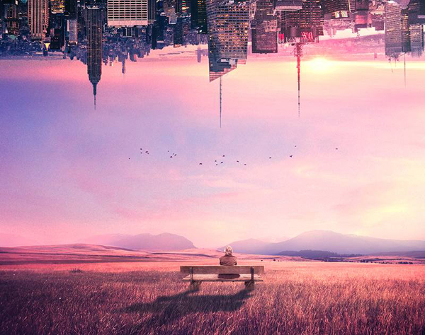 How to Create a Scene of an Upside Down City With Adobe Photoshop