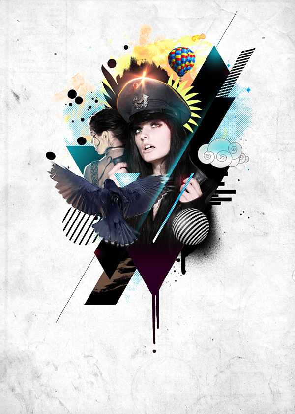 Create This Stylistic Mixed-Media Artwork in Photoshop