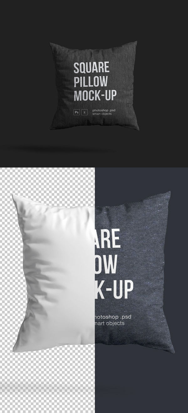 Free square pillow model