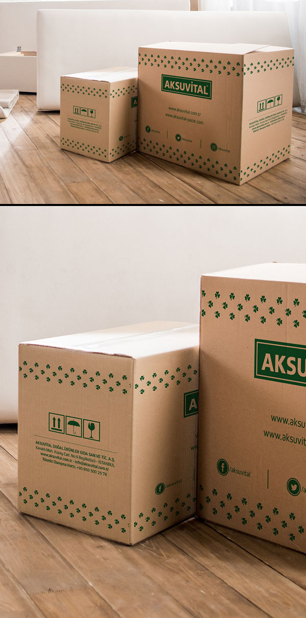 Free packaging Big Box Mockup PSD