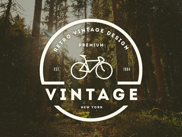 Logo Vintage / Insignia Retro por Design District