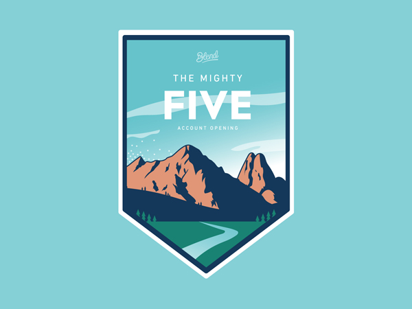 Mighty Five Pegatina por Justin