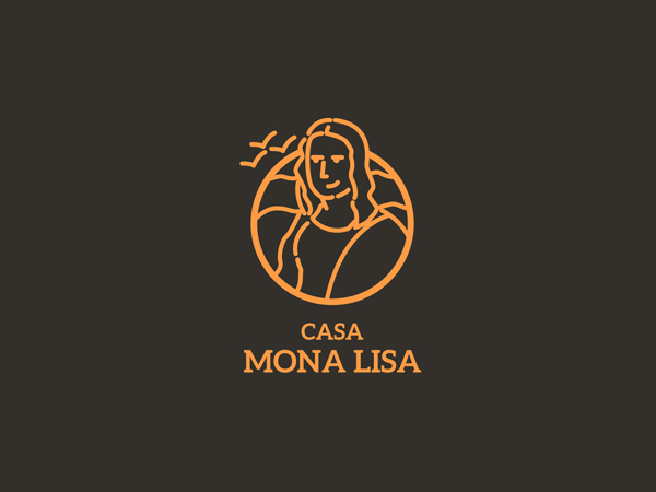 Mona Lisa Badge by Jose E. Cadenas