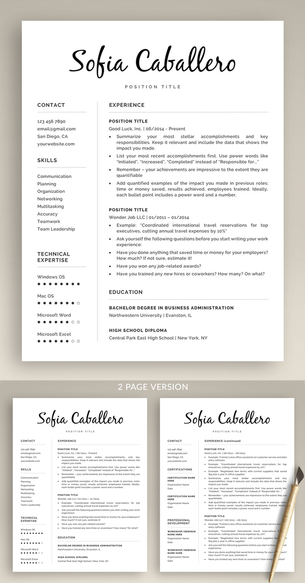 Awesome & Creative Resume Template