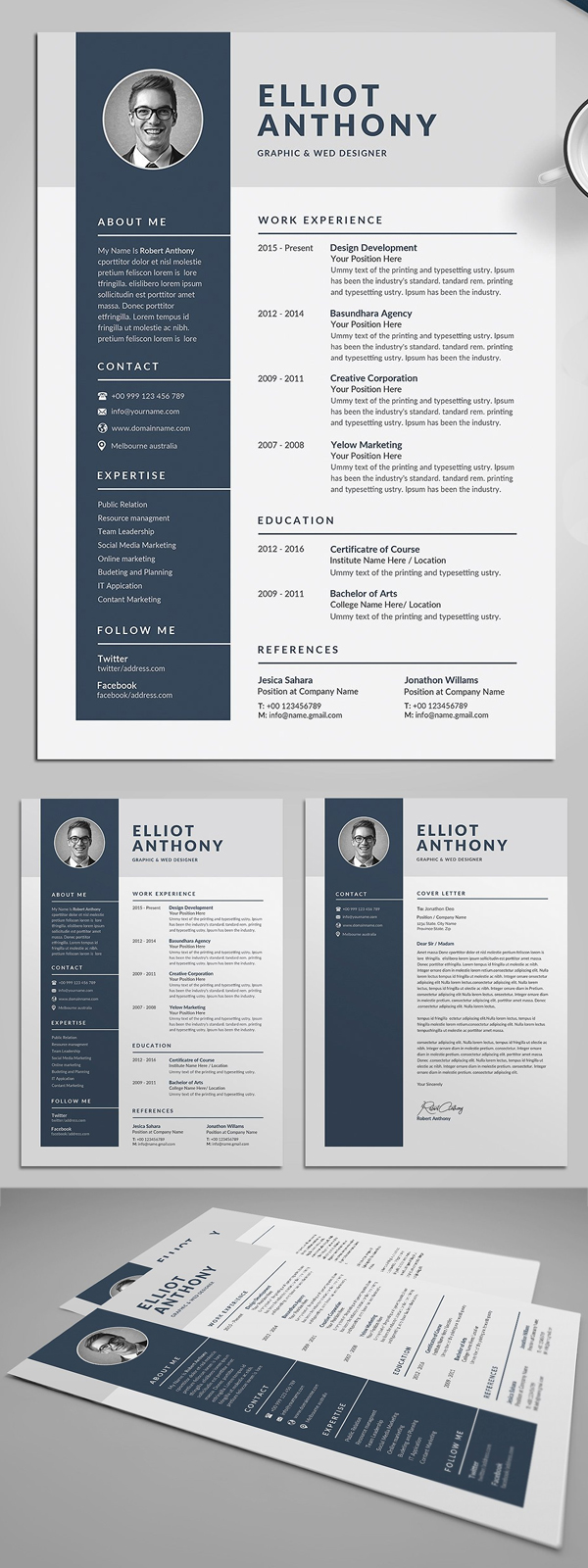 Minimal Resume & Cover Letter Template