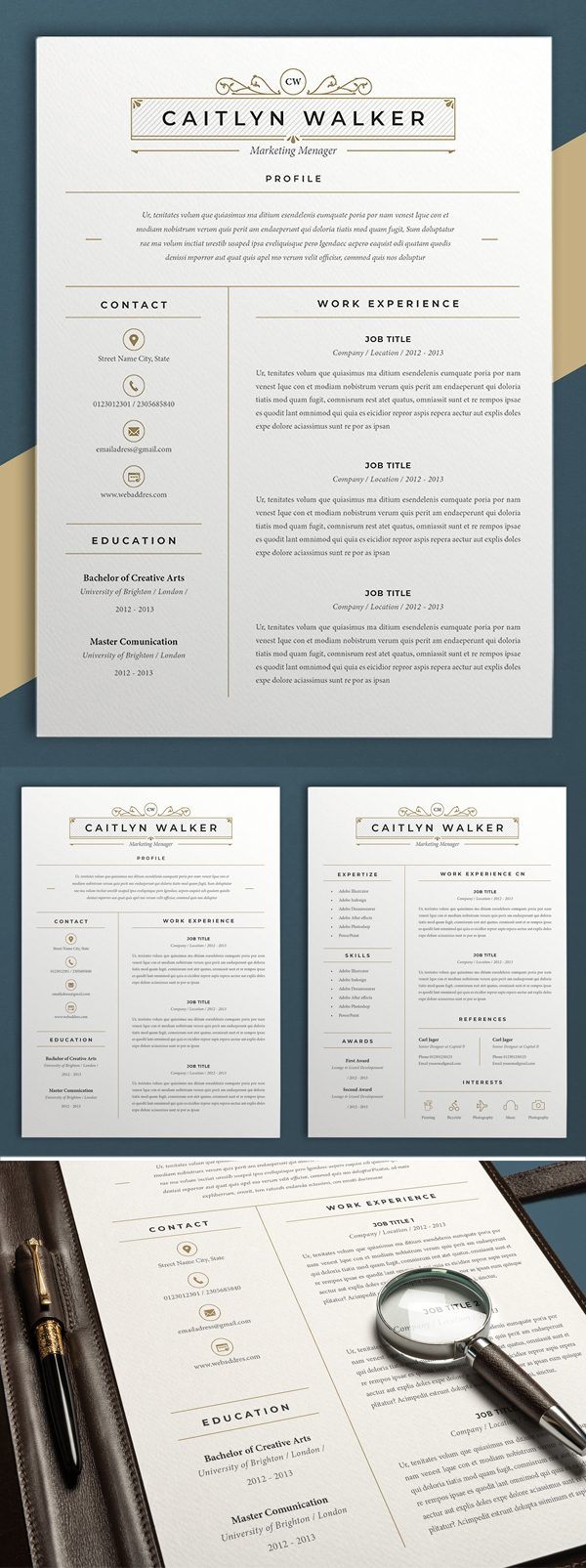 Resume Template | Caytlyn