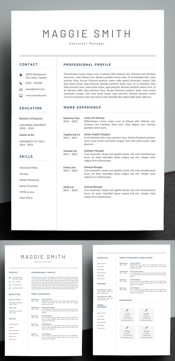 Simple & Creative Resume Template