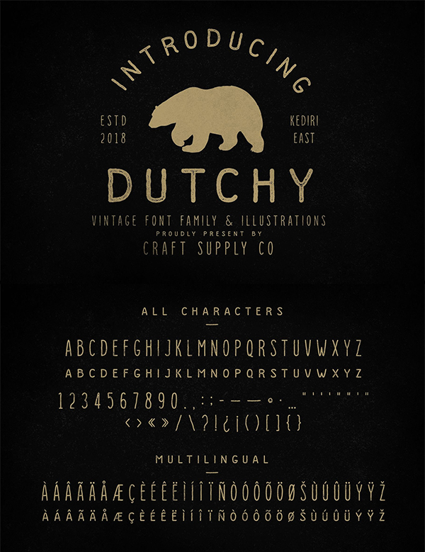 Dutchy - Vintage Type Family