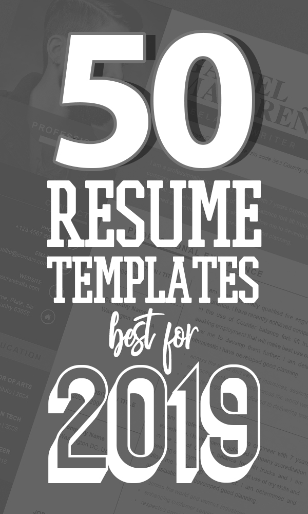 50 Free Cv Resume Templates Best For 2019 Design