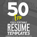 Post Thumbnail of 50 Free CV / Resume Templates - Best for 2019