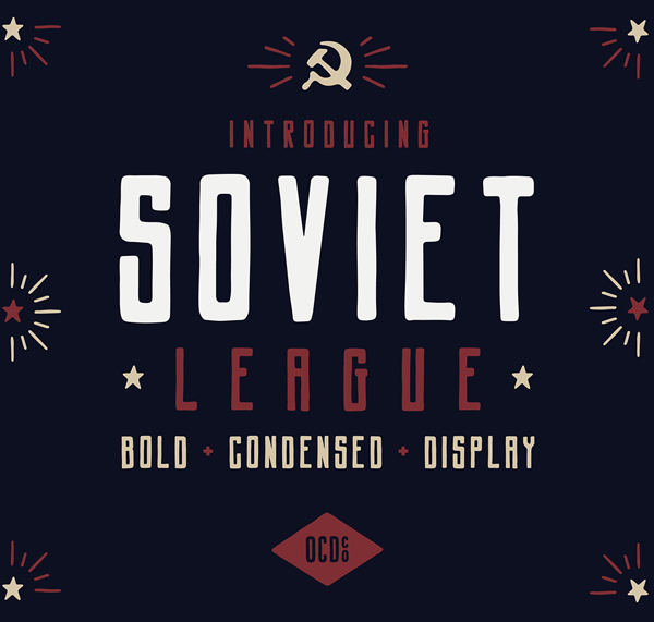 Soviet League Free Font Design
