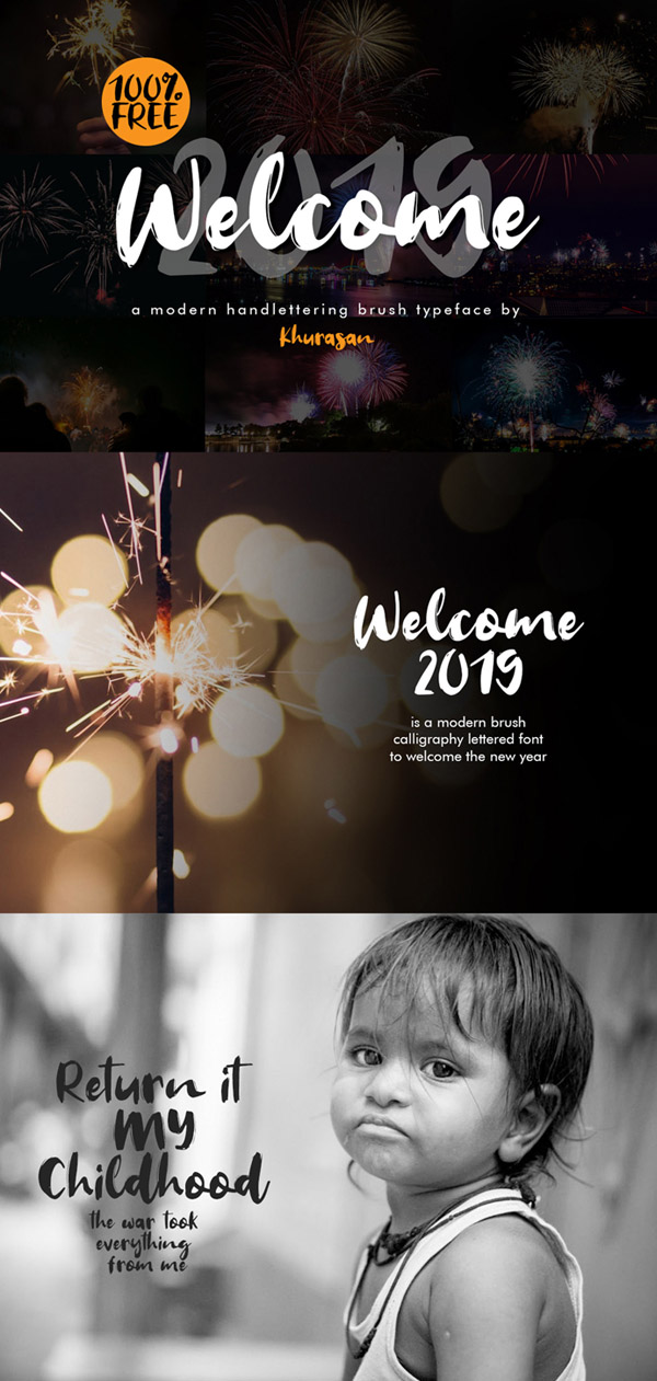 Welcome 2019 Font Free Font Design