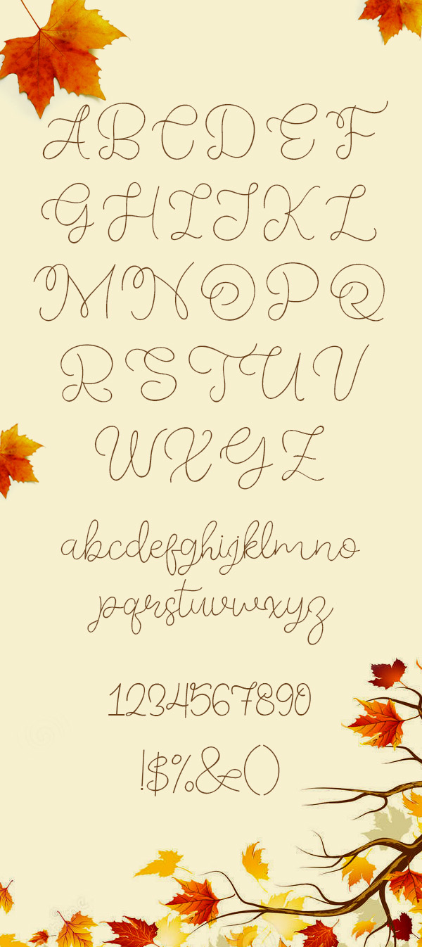 Freebies for 2019: Free Font 'Memory of 2018' Letters