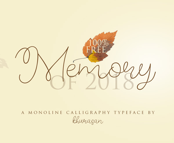 Freebies for 2019: Free Font 'Memory of 2018'