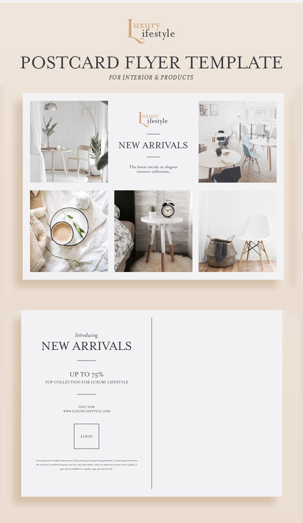 Freebies for 2019: Free Product Postcard Flyer PSD Template