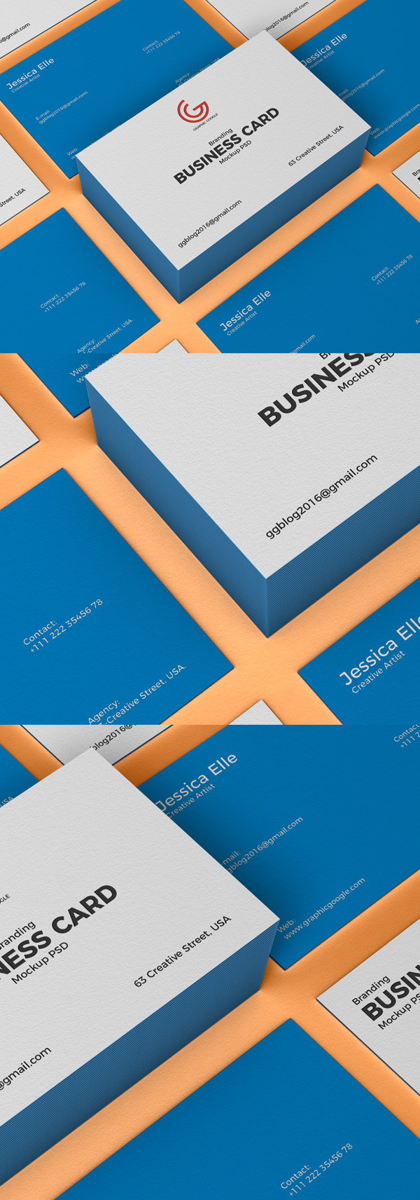 Freebies for 2019: Free Branding Business Card Mockup