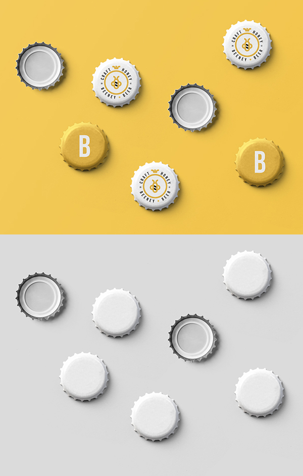 Freebies for 2019: Free Glass Bottle Cap Mockups