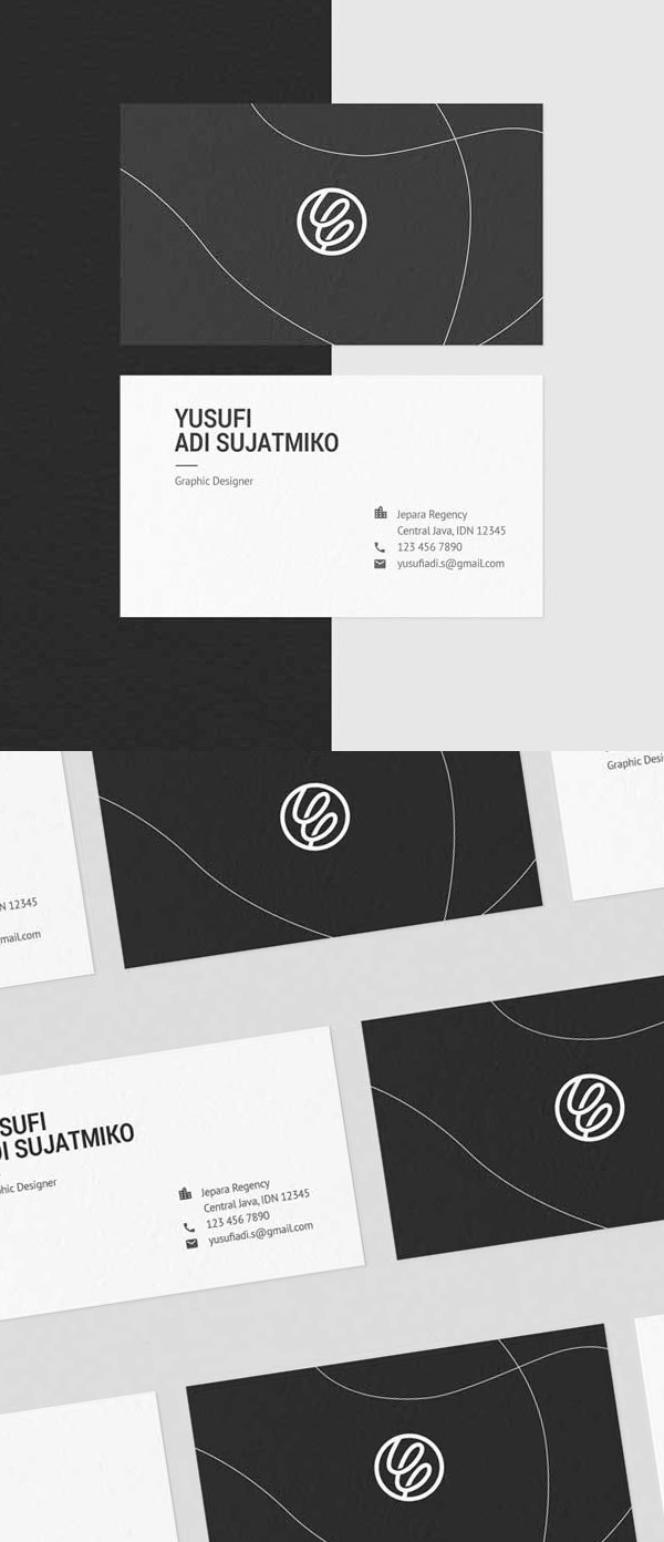 Freebies for 2019: Free Clean and Minimal Business Card Template