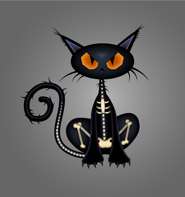 How to Draw a Spooky Black Cat Character in Adobe Illustrator