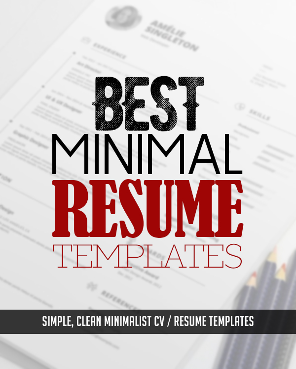 35 Best Minimal CV Resume Templates