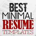Post thumbnail of 35 Best Minimal CV Resume Templates