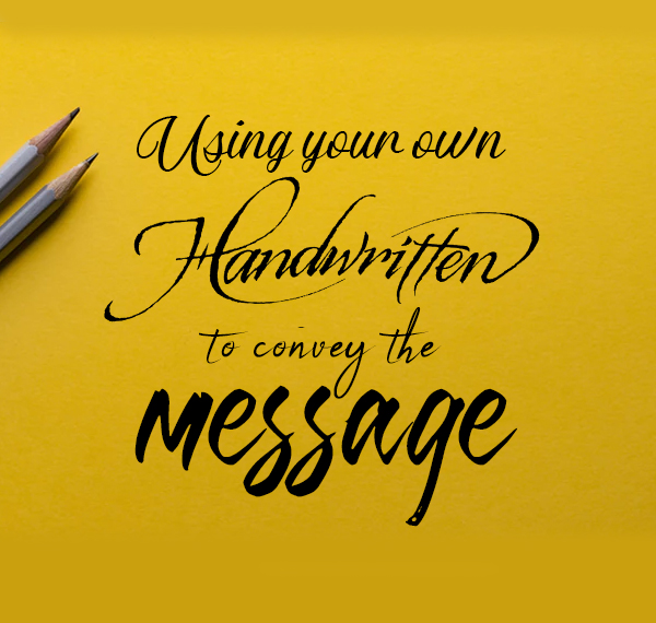 Handwritten Presentation Text