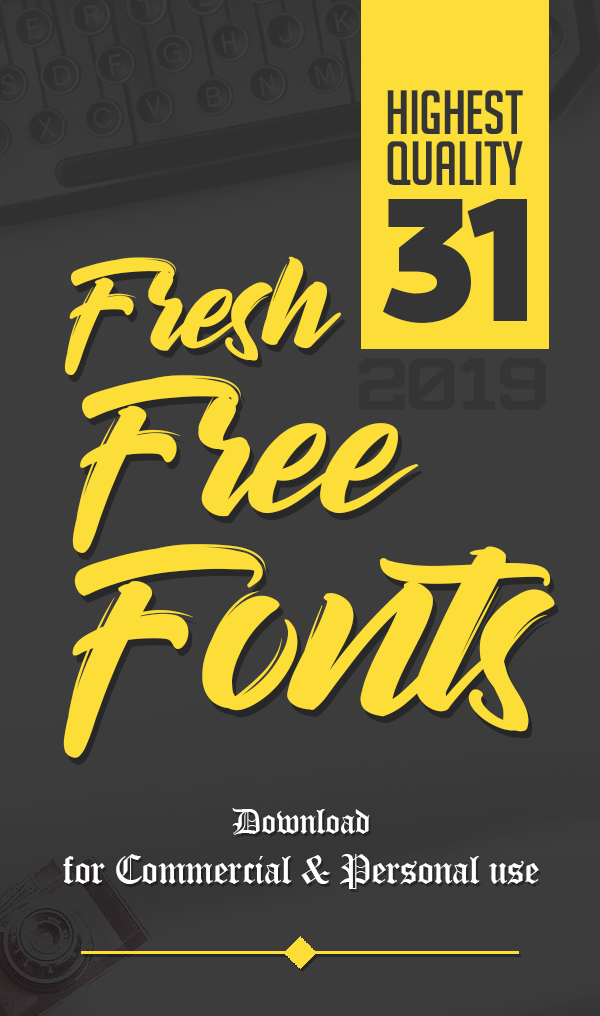 31 Fresh Free Fonts for Graphic Designers