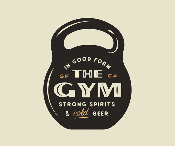 The Gym Badge Logo