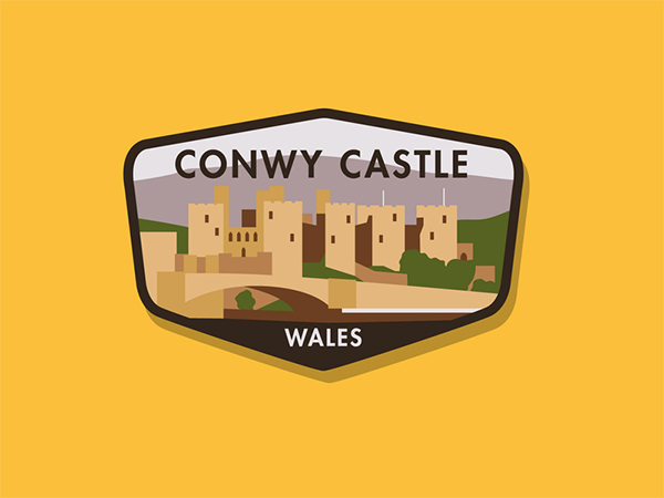 Conwy Castle Badge Logo