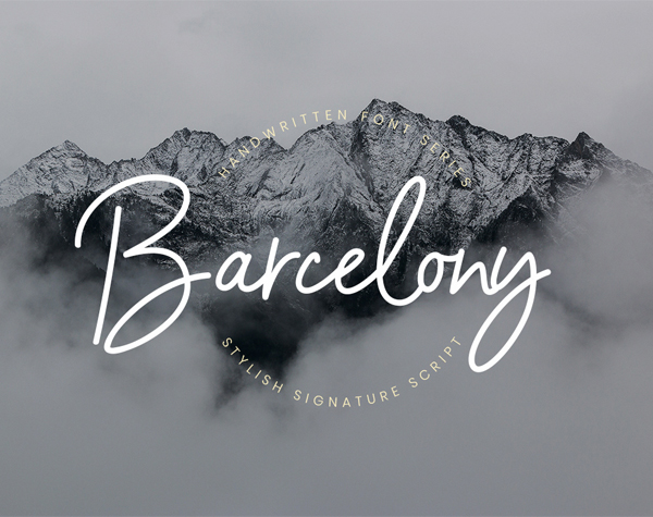 Barcelony Signature Free Font Design