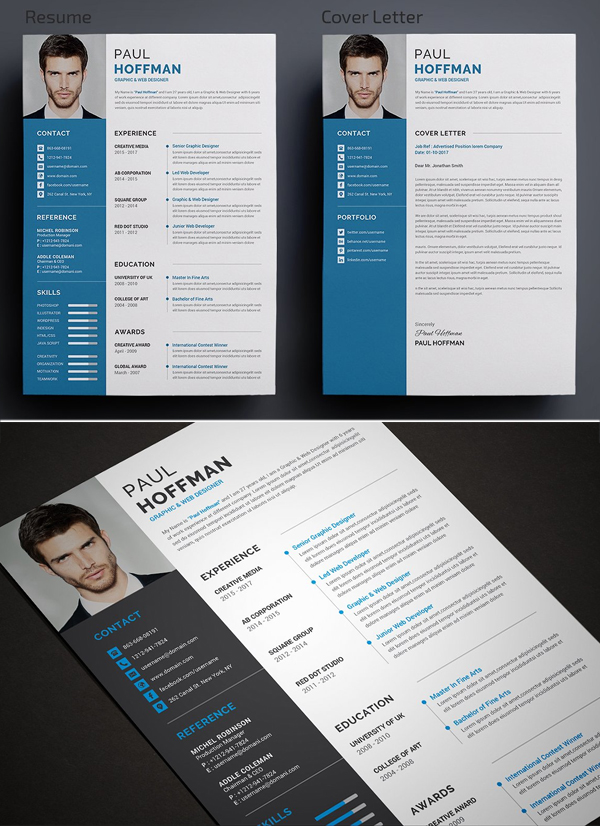 Elegant Simple CV / Resume & Cover Letter