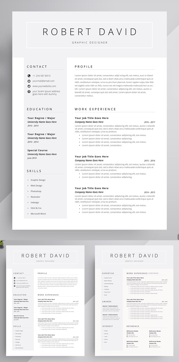 Useful Fresh Resume Template