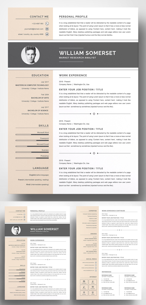 Creative and Fresh Resume Template