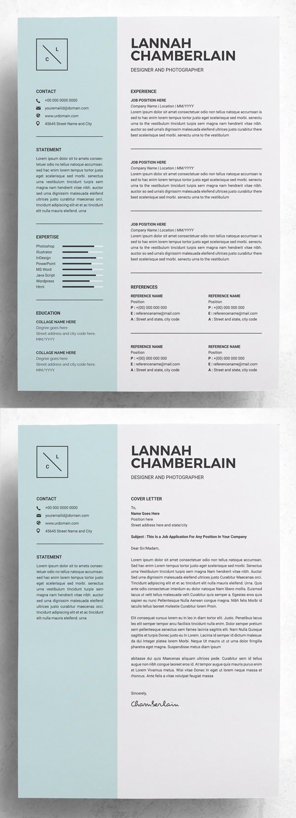 Clean Resume Template | 2 Pages