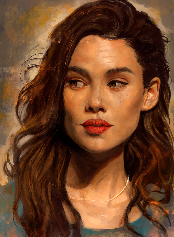 Amazing Digital Illustration Portrait Paintings by Ahmed Karam - 4