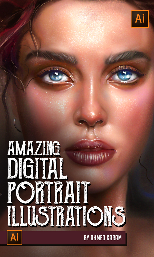 Amazing Digital Illustration Portrait Paintings by Ahmed Karam