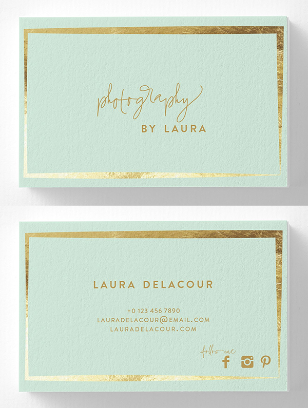 Elegant Photography Business Card