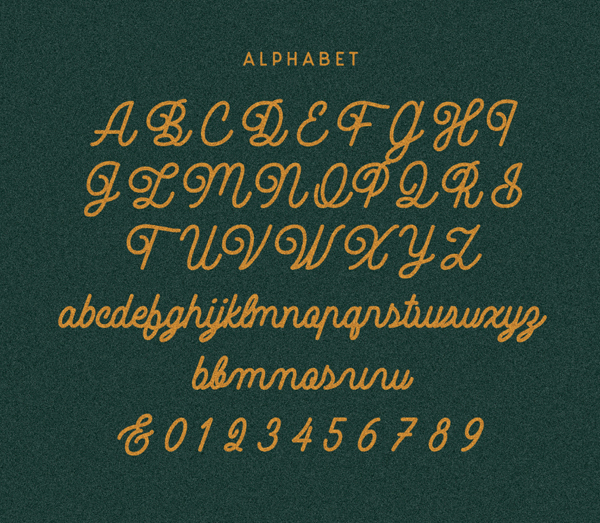 Noble Company Font Letters