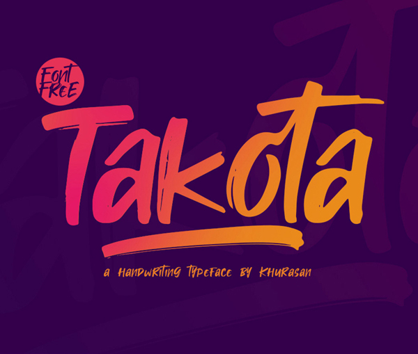 Takota Handwritten Brush Free Font