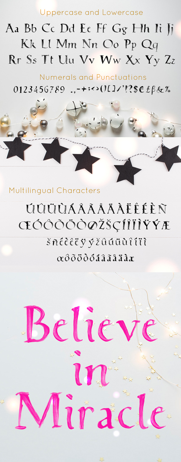 White Christmas Font Letters