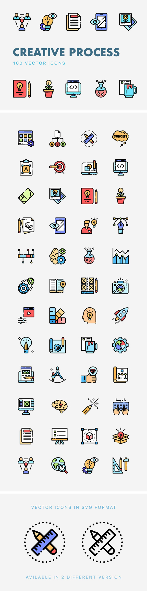 Free Creative Process Vector Icons