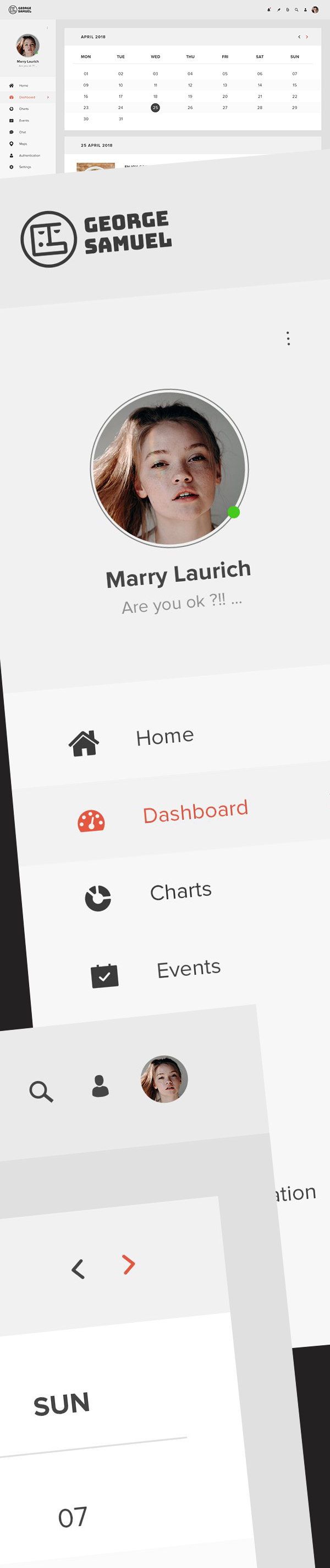 Free Calendar Dashboard UI Design