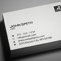 Post Thumbnail of Free Minimal Clean Business Card PSD Template