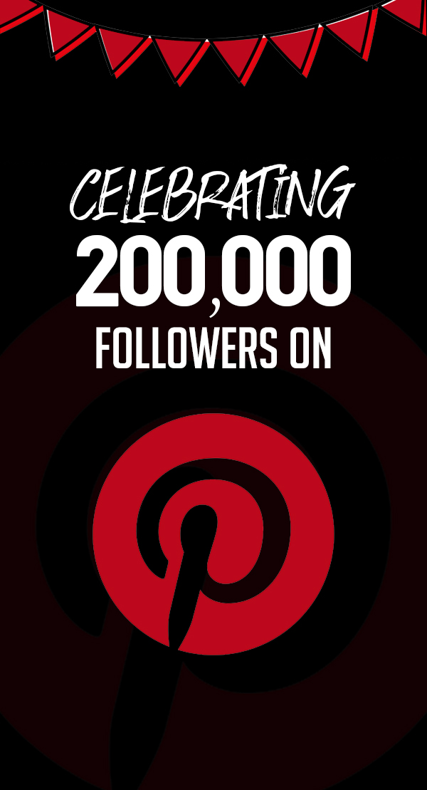 200k followers on Pinterest