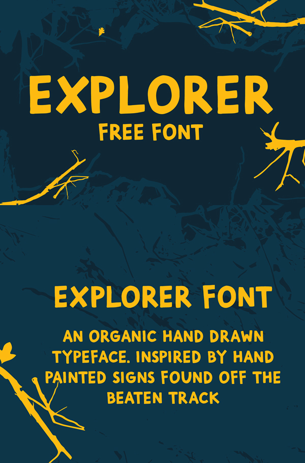 Fuente Explorer Hand Drawn Free