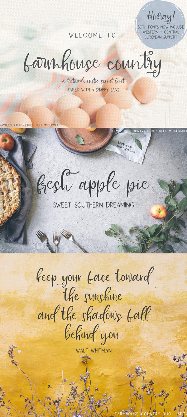 Farmhouse Country Rustic Script Free Font